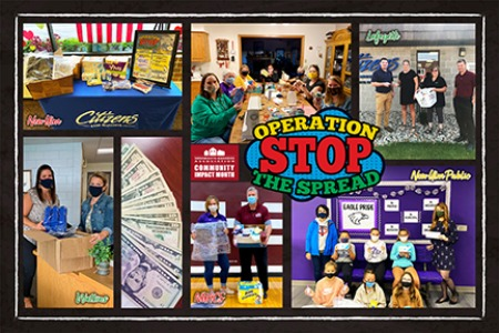 2020 Community Impact Month photo collage
